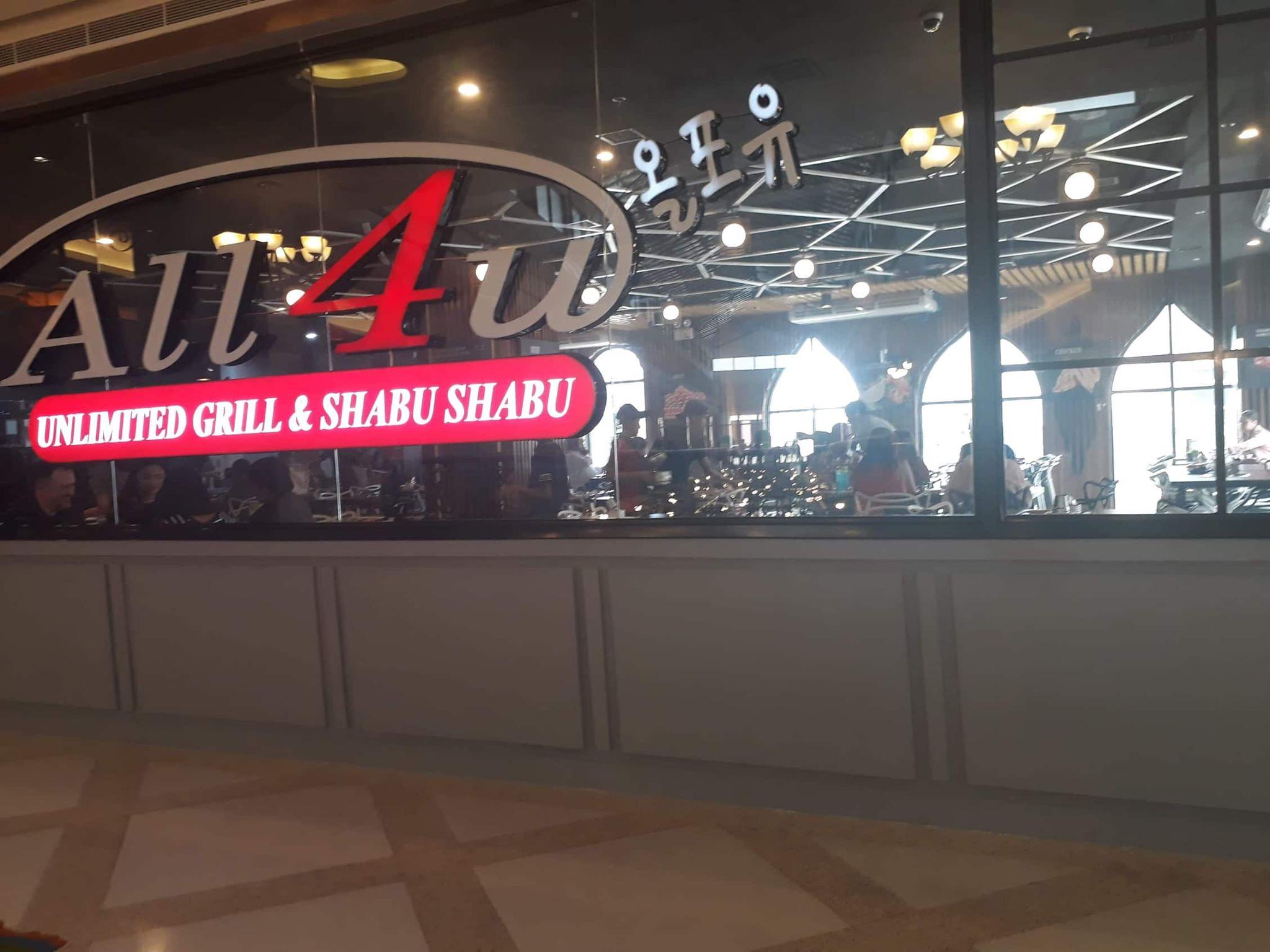 All4u Unlimited Grill And Shabu Shabu In Venice Grand Canal Mall Mckinley Hill Diamond In The Rough